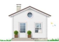 Een weinig wit huis stock illustratie