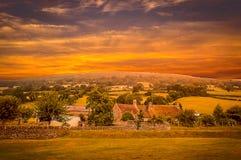 Een Welse Zonsondergang stock foto