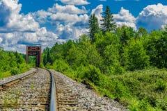 Een werkelijk lange spoorweg Royalty-vrije Stock Afbeelding