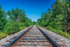 Een werkelijk lange spoorweg Stock Fotografie