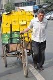 Een werkende mens, China. Royalty-vrije Stock Fotografie