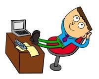Een werkgever bij gemak vector illustratie