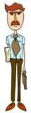 Een werknemer met een portefeuille royalty-vrije illustratie