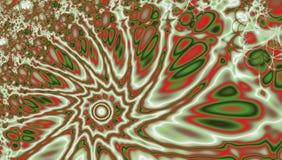 Een wervelende vlamfractal draaikolk met effect van Oog van Zandstorm Stock Afbeeldingen