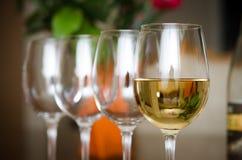 De glazen van de wijn Royalty-vrije Stock Afbeeldingen