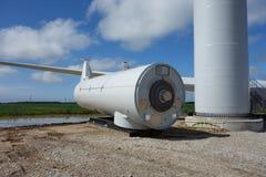 Een windmolen die in Ontario worden geassembleerd Royalty-vrije Stock Foto's