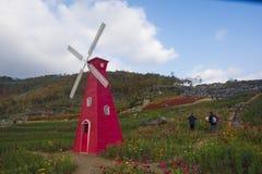 Een windmolen in huangshan ten westen van huangshan, anhuiprovincie Royalty-vrije Stock Afbeeldingen