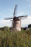 Een windmolenlandschap in Nederland. Stock Foto's
