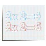 Een wiskundig voorbeeld van hand-drawn in 3D stijl Stock Fotografie