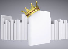 Een wit boek en een gouden kroon Royalty-vrije Stock Foto