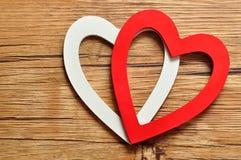 Een wit en rood hart Royalty-vrije Stock Afbeelding