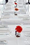 Een wit restaurant stock afbeelding