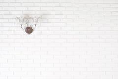 Een witte bakstenen muur Stock Foto's