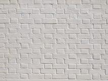Een witte bakstenen muur Stock Foto