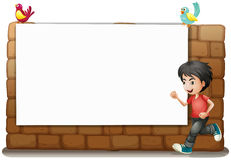 Een witte raad, een jongen en vogels vector illustratie