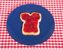 Een witte sandwich met jam op bovenkant Royalty-vrije Stock Foto