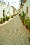 Een witte straat Royalty-vrije Stock Foto
