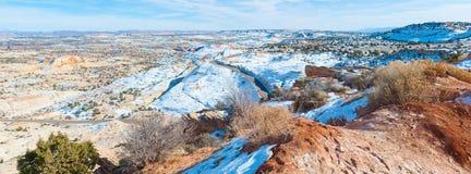 Een woestijn toneelweg Stock Foto