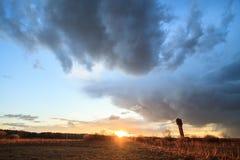 Een wolk van hagel komst Stock Foto