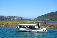 Een woonboot, Knysna, Zuid-Afrika Stock Foto