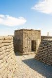 Een WW1 Bunker in de geul van de wereldoorlog van doodsbelgië. royalty-vrije stock afbeelding