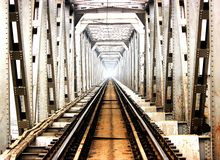 Een Yamuma-rivierbrug Stock Fotografie