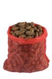 Een zak van pecannootnoten Royalty-vrije Stock Foto's