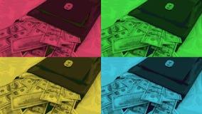 Een zak zure groene pruim en geld van 20 het Turkse Lirebankbiljetten, stock footage