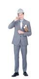 Een zakenman in architectuur Royalty-vrije Stock Foto's