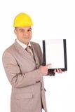 Een zakenman met documenten Stock Foto's