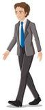 Een zakenman in zijn formele kledij met een blauwe stropdas Stock Foto
