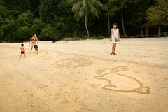 Een zand royalty-vrije stock foto