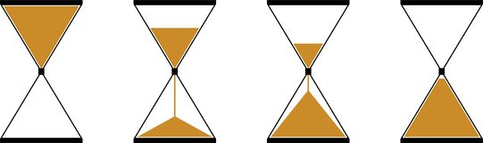 Een zandloper vectorpictogrammen stock illustratie