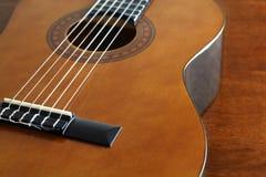 Een zeer aardig schot van een gitaar Royalty-vrije Stock Foto's
