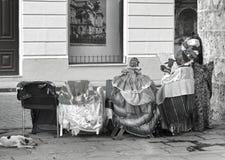 Een zeer patricular fortuinteller van Havana met een sigaar royalty-vrije stock foto's