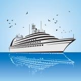 Een zeer realistische mening van het Schip van de Cruise, gelijkend op de Vrijheid van het Overzeese schip. stock illustratie