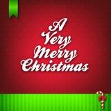 Een zeer Vrolijke Kaart van de Kerstmisgroet Stock Afbeeldingen
