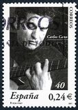 Een zegel in Spanje wordt gedrukt toont Carlos Cano dat Royalty-vrije Stock Afbeeldingen