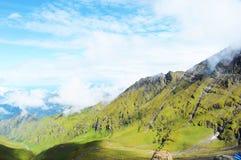 Een zijaanzicht van heuvel Royalty-vrije Stock Foto's