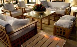 Een zitkamer van terras Royalty-vrije Stock Afbeelding