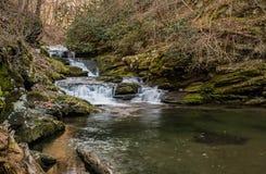 Een zoet draperende waterval, zuidoostelijk Tennessee, de V.S. royalty-vrije stock foto