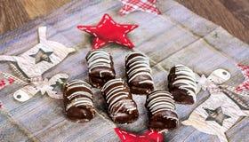 Een zoet suikergoed voor Kerstmis stock foto