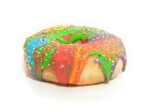 Een zoete kleurrijke doughnut Royalty-vrije Stock Afbeelding