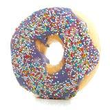 Een zoete purpere doughnut met Stock Foto's
