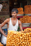 Een Zoete Verkoper in Puri Royalty-vrije Stock Foto