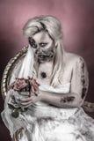 De bruid van de zombie royalty-vrije stock afbeelding