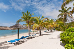 Een zonnig Caraïbisch Strand Royalty-vrije Stock Afbeeldingen