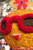 Een zonnige Jongen van Doll die door Bloemen wordt gemaakt royalty-vrije stock foto