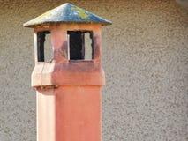 Een zonnige schoorsteen openlucht Stock Foto