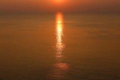 Een zonsondergang Stock Fotografie